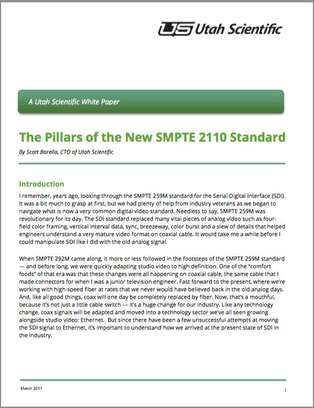 Pillars of SMPTE 2110